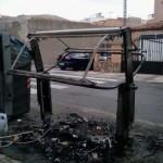 Puertollano: Prosigue la oleada vandálica de quema de contenedores