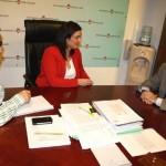 La alcaldesa de Puertollano se reúne con el director de Encasur