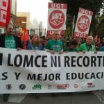 Ciudad Real: Miles de personas rematan en la calle la jornada de huelga contra la reforma educativa