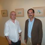 """Teo Serna muestra """"Obra sobre/con papel"""" en la biblioteca municipal de Manzanares"""