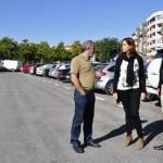 Ciudad Real: La alcaldesa revisa las obras en los aparcamientos disuasorios y anuncia la construcción de uno nuevo en el parque del cementerio