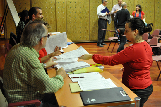 Recuento de firmas a favor del referéndum
