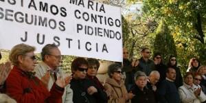 Una de las concentraciones de apoyo a los padres de Ana María
