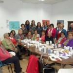 Carmen Fúnez mantiene un encuentro con medio centenar de mujeres y hombres de Carrión para concienciar sobre el maltrato