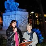 Ciudad Real: El monumento a Cervantes se ilumina de azul en solidaridad con los enfermos de diabetes