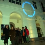 Manzanares: ADIMA proyecta sobre el Ayuntamiento el símbolo de la lucha contra la diabetes