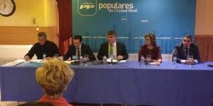 Ciudad, durante una reunión de la ejecutiva provincial del PP en Puertollano