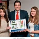 Sanidad y Asuntos Sociales felicita la Navidad con una postal hecha por dos pacientes de Guadalajara