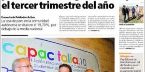 Una de las portadas del desaparecido diario El Día de Ciudad Real