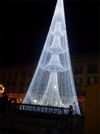 Iluminación en la Plaza Mayor.Árbol de Navidad