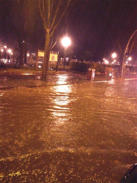 Ciudad Real inundada. Foto: @gemyta86
