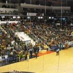 Ciudad Real: Cientos de personas se quedaron sin poder pasar a la final del mundial de fútbol sala hasta que la organización habilitó los palcos del Quijote Arena