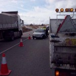 Colisión de vehículos sin heridos graves frente al Terri de Puertollano