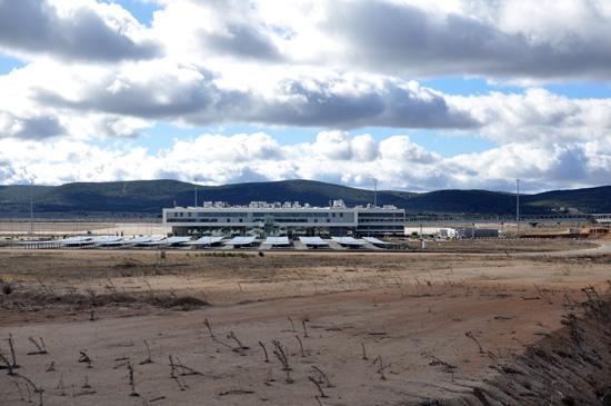 Aeropuerto de Ciudad Real. Foto de archivo