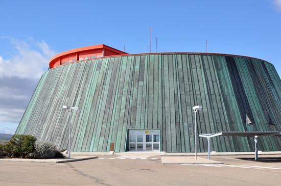 Aeropuerto de Ciudad Real. Centro de visitantes. Foto de archivo