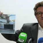 """Alberto Lillo (PSOE) reitera su """"preocupación"""" por la situación del centro de Ciudad Real y que """"puedan caer"""" edificios"""