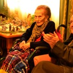 Daimiel: El centro  Azuer celebra el cumpleaños de su residente más longeva