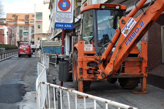Obras de semipeatonalización en la calle Prado