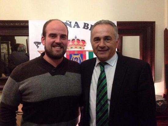 El concejal Carlos Gutiérrez junto a Rafael Gordillo