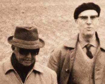 Roberto Medem, abuelo de Javier, con el general Franco (Foto: Lanava.net)