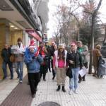 La PAH Puertollano celebró la Navidad con villancicos a la banca y a los artífices de la crisis