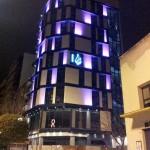 El icono de la arquitectura pop de Puertollano se viste de rosa por Santa Águeda