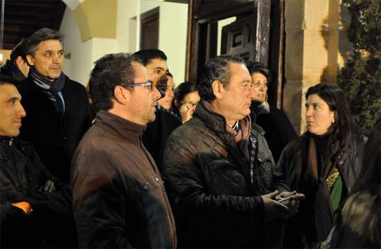 Luis Maldonado, durante la concentración de ayer en Almagro