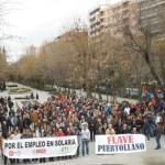 Raquítica respuesta ciudadana: 350 personas claman contra el cierre de Solaria y el desmantelamiento industrial de Puertollano