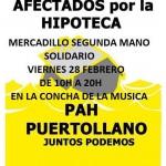 Puertollano: El mercadillo solidario organizado por la PAH será el 28 de febrero