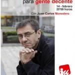 IU Valdepeñas propone un «curso urgente de política para gente decente»