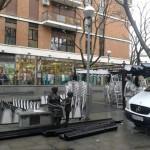 Ciudad Real: Retiran la pérgola del 'Come y calla' en la Plaza Cervantes