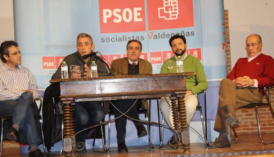 El exministro Valeriano Gómez en Valdepeñas