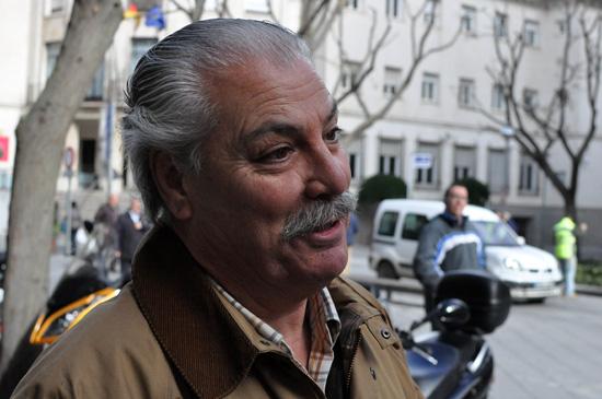 Luis Burgos, presidente de la comunidad de propietarios
