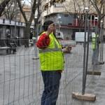 El Ayuntamiento de Ciudad Real ordena la ampliación del vallado de seguridad para la demolición del número 5 de la Plaza Cervantes sin contar con los propietarios