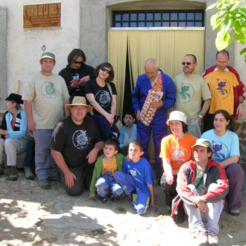 Ecologistas en apoyo a los propietarios de la Venta de la Inés (archivo)