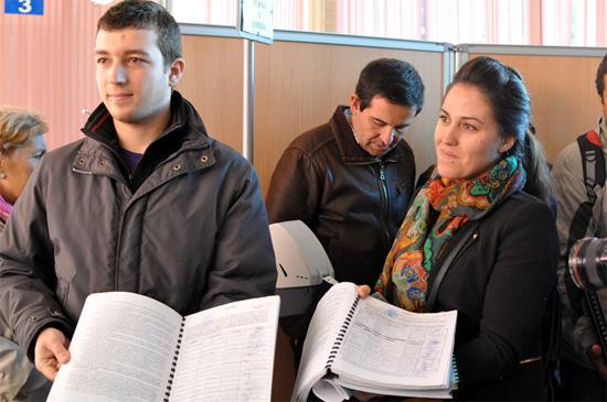 Ciudadanos de la plataforma antes del registro de las firmas