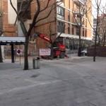 Ciudad Real: Retiran la valla de la demolición a pocos metros de distancia del solar del edificio de la Plaza Cervantes