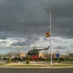 """CNT pide a profesores de la provincia que no lleven a los niños a """"jugar a la guerra"""" a la base de helicópteros de Almagro"""