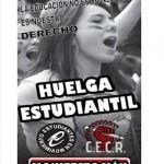 Comunicado de los colectivos estudiantiles ante la huelga convocada el 19 de marzo