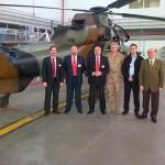 Dos helicópteros de combate se exhibirán con motivo de la Jura de Bandera civil que celebrará Manzanares el próximo 10 de mayo