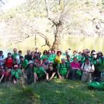 Puertollano: El Club Pozo Norte recorrió las hoces del río Guadiana en el límite con Badajoz