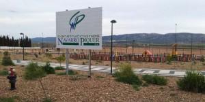 Cartel de Navarro Piquer (ya retirado) en una de las últimas obras ejecutadas por la empresa