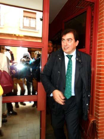 Hermoso Murillo, a su salida de los juzgados el pasado 3 de abril