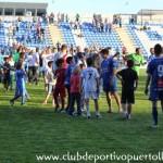 Agradecimientos del CD Puertollano tras conseguir su noveno campeonato de Liga en Tercera División