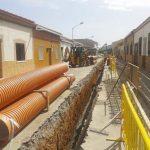 El Ayuntamiento de Argamasilla de Calatrava renueva el alcantarillado de la calle Manzana