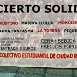 El Colectivo Estudiantil de Ciudad Real organiza un concierto solidario