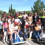 La alcaldesa de Puertollano, con los alumnos de primaria del programa de educación vial