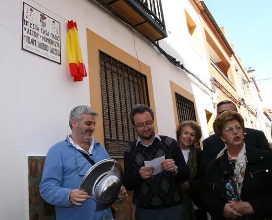 Millán, durante su última visita a Brazatortas el pasado mes de abril