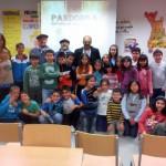 Los pandorgos visitan el Colegio Alcalde José Cruz Prado para dar a conocer las fiestas y tradiciones de Ciudad Real