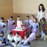 El colegio público Maestro Navas de Aldea del rey organiza una procesión infantil de Semana Santa